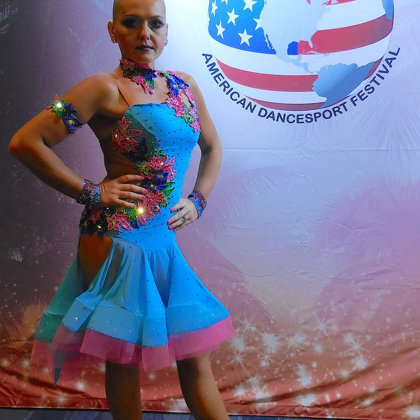 Dance sport competition make-up